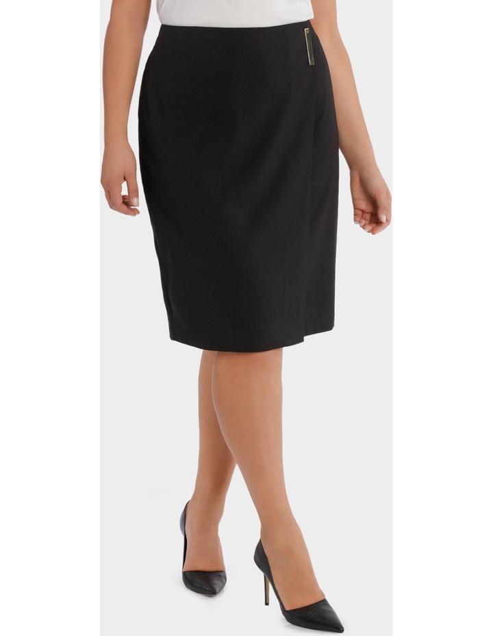 Fine Line Wrap Front Midi Suit Skirt image 1