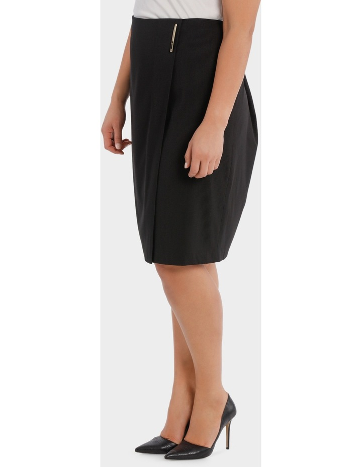 Fine Line Wrap Front Midi Suit Skirt image 2