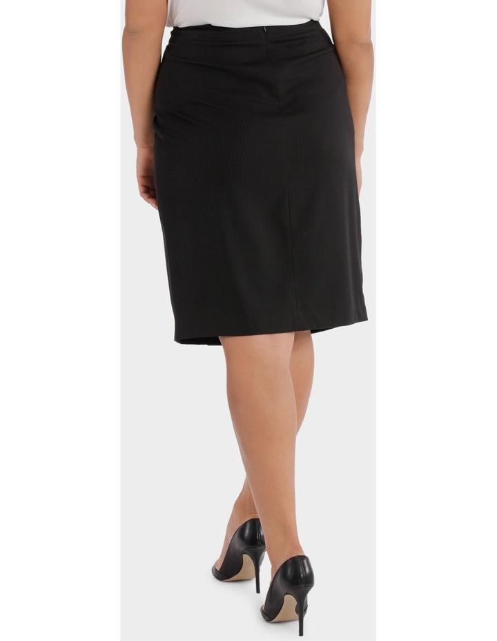 Fine Line Wrap Front Midi Suit Skirt image 3