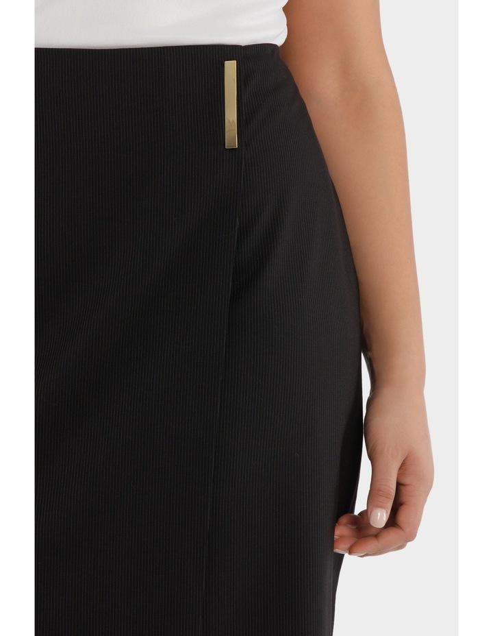 Fine Line Wrap Front Midi Suit Skirt image 4