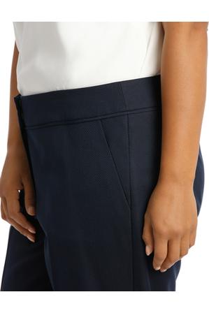 Basque Woman - Navy Diamond Straight Leg Suit Pant