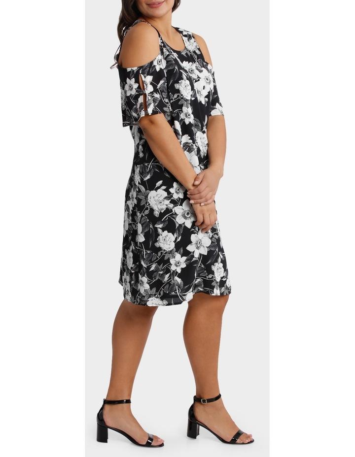 Photographic Floral Cold Shoulder Dress image 2