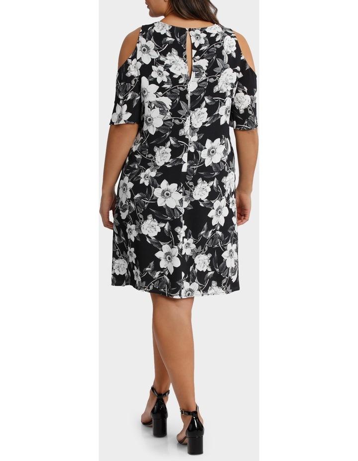 Photographic Floral Cold Shoulder Dress image 3