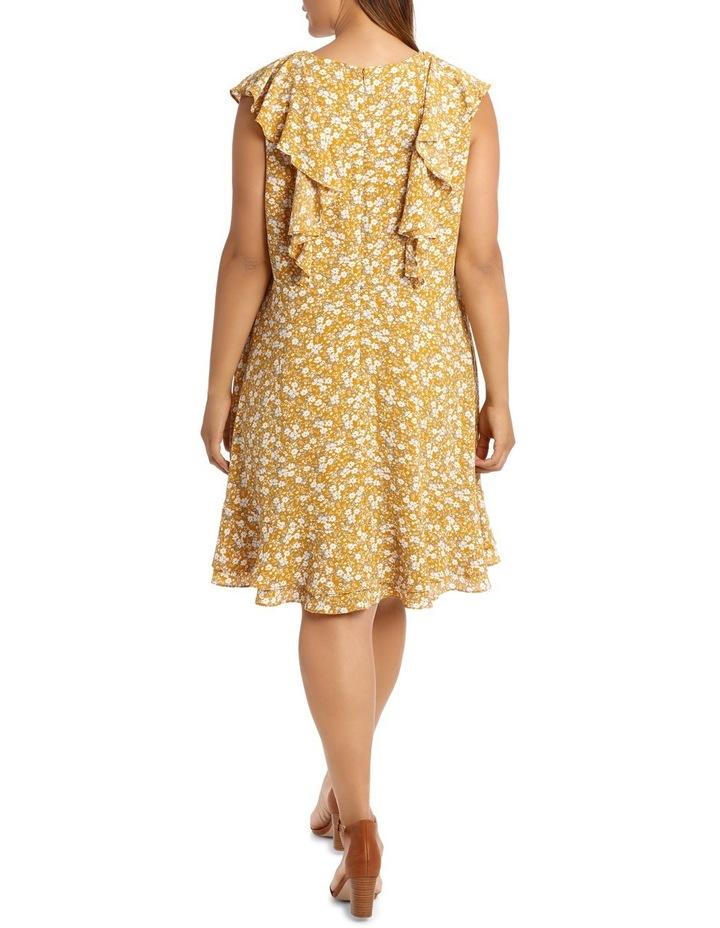 Vee Neck Vertical Ruffle Dress image 3