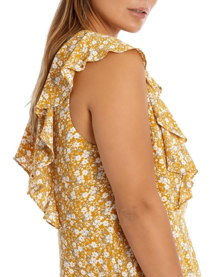 Vee Neck Vertical Ruffle Dress image 4