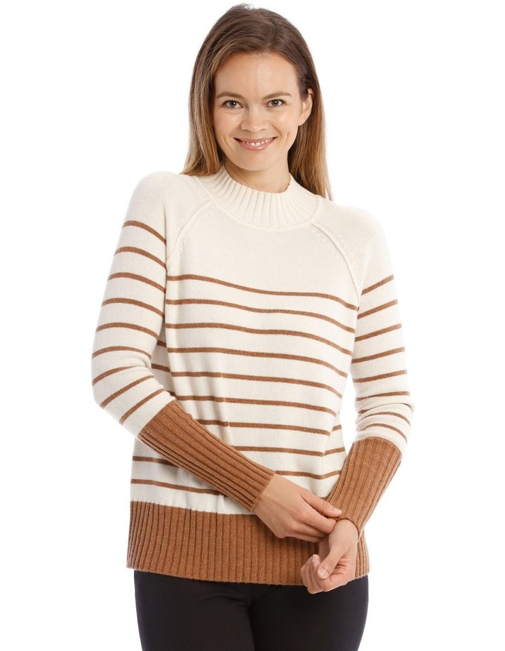 Stand Neck With Stripe Jumper image 1