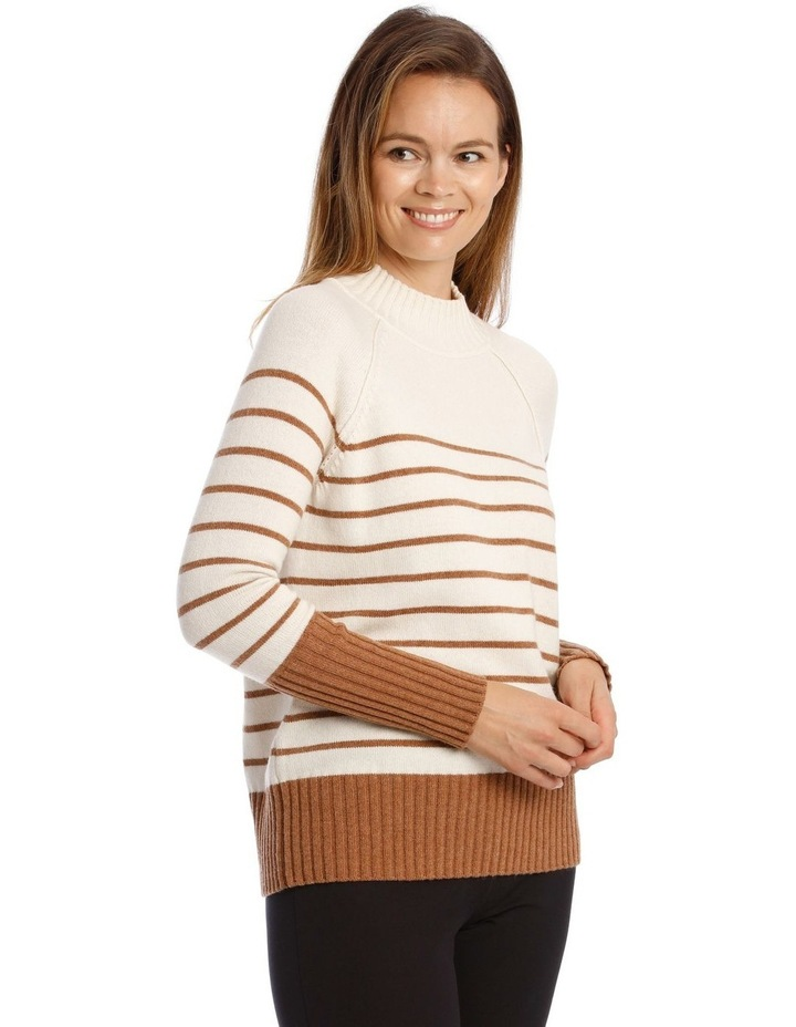 Stand Neck With Stripe Jumper image 2