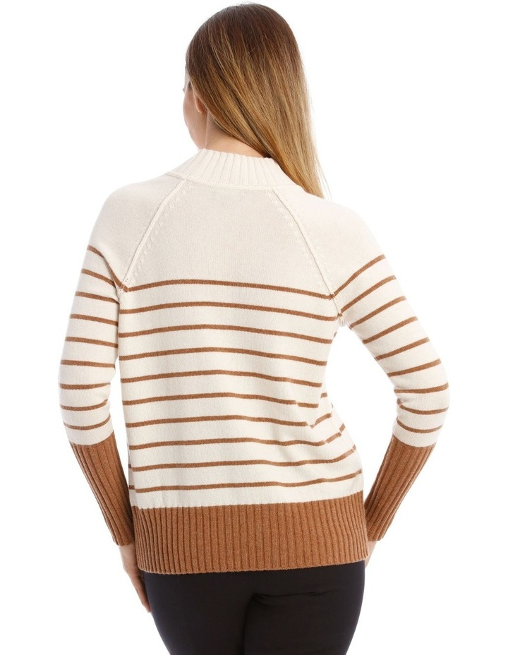 Stand Neck With Stripe Jumper image 3
