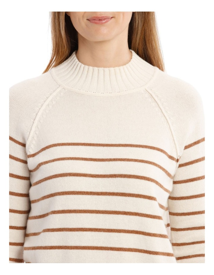 Stand Neck With Stripe Jumper image 4