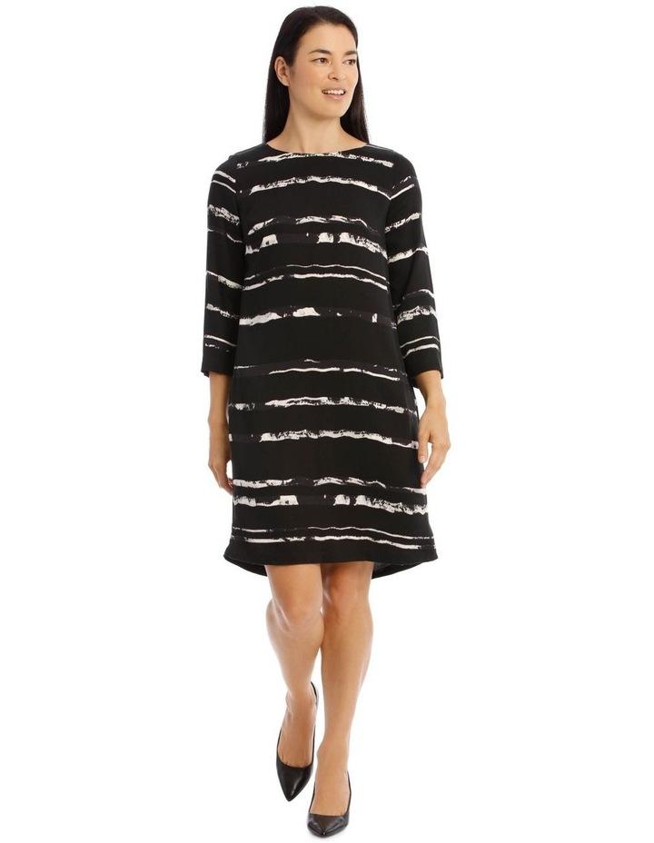 3/4 Sleeve Shift Dress image 1
