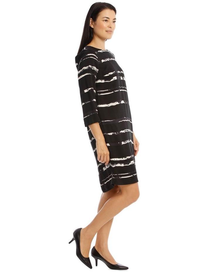 3/4 Sleeve Shift Dress image 2