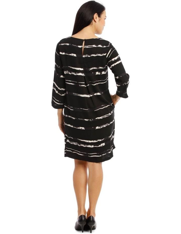 3/4 Sleeve Shift Dress image 3