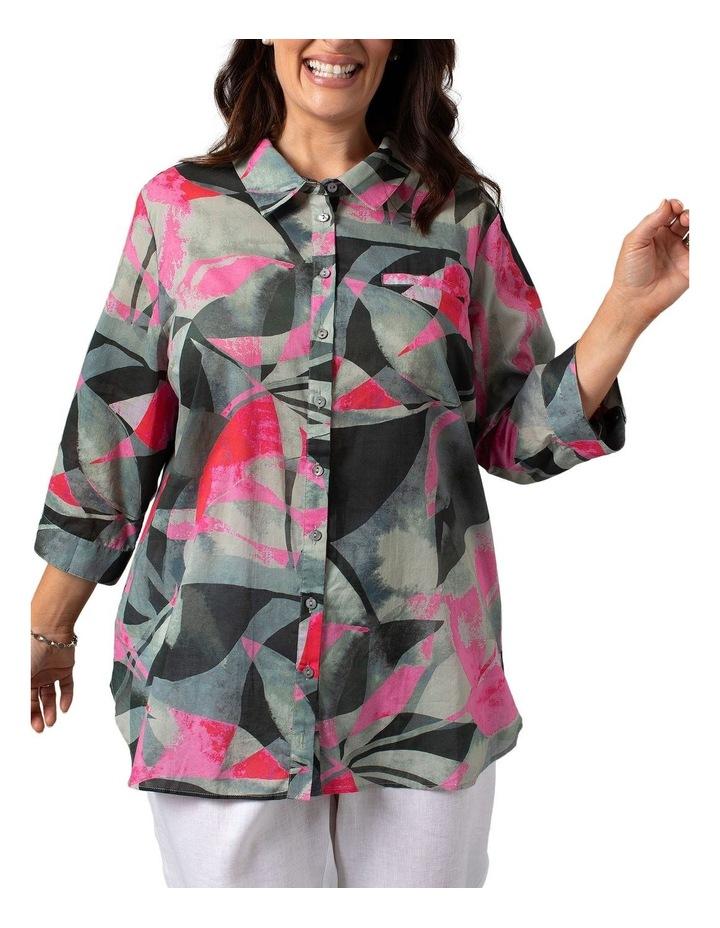 Long Sleeve Shirt Leaf Print image 1