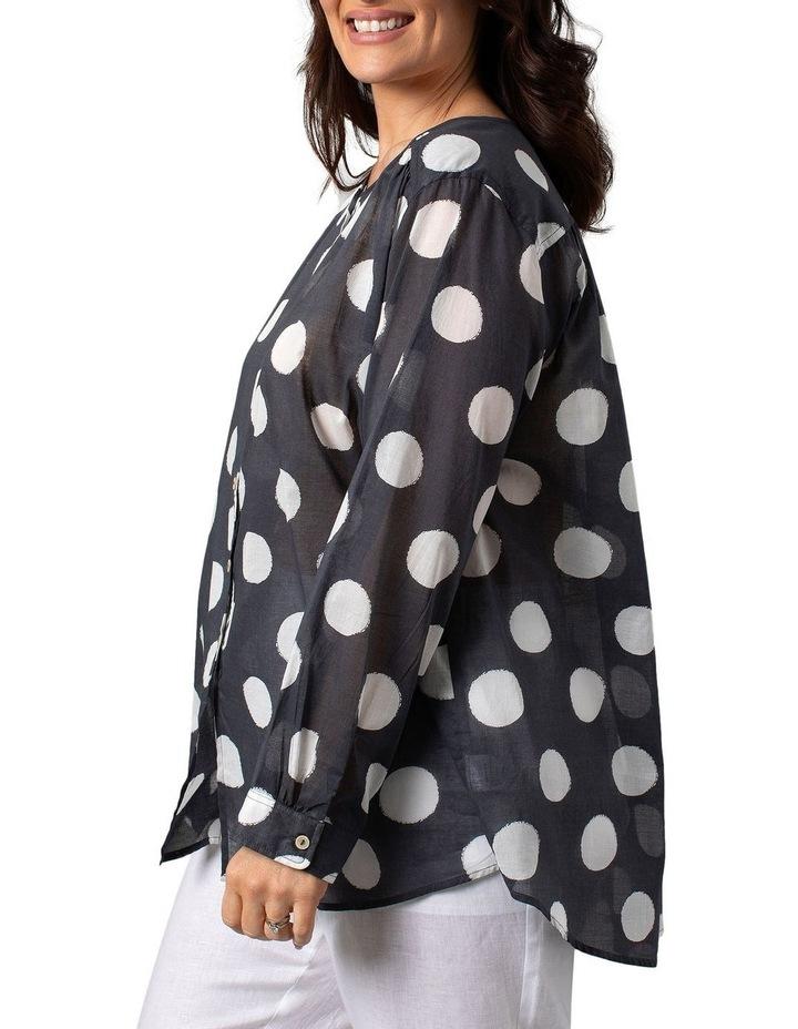 Long Sleeve Shirt Slate Circle Print image 3