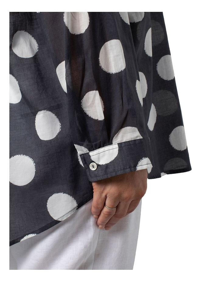 Long Sleeve Shirt Slate Circle Print image 4