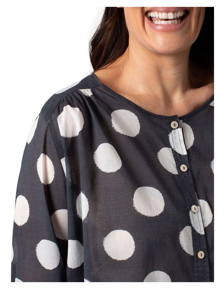 Long Sleeve Shirt Slate Circle Print image 5