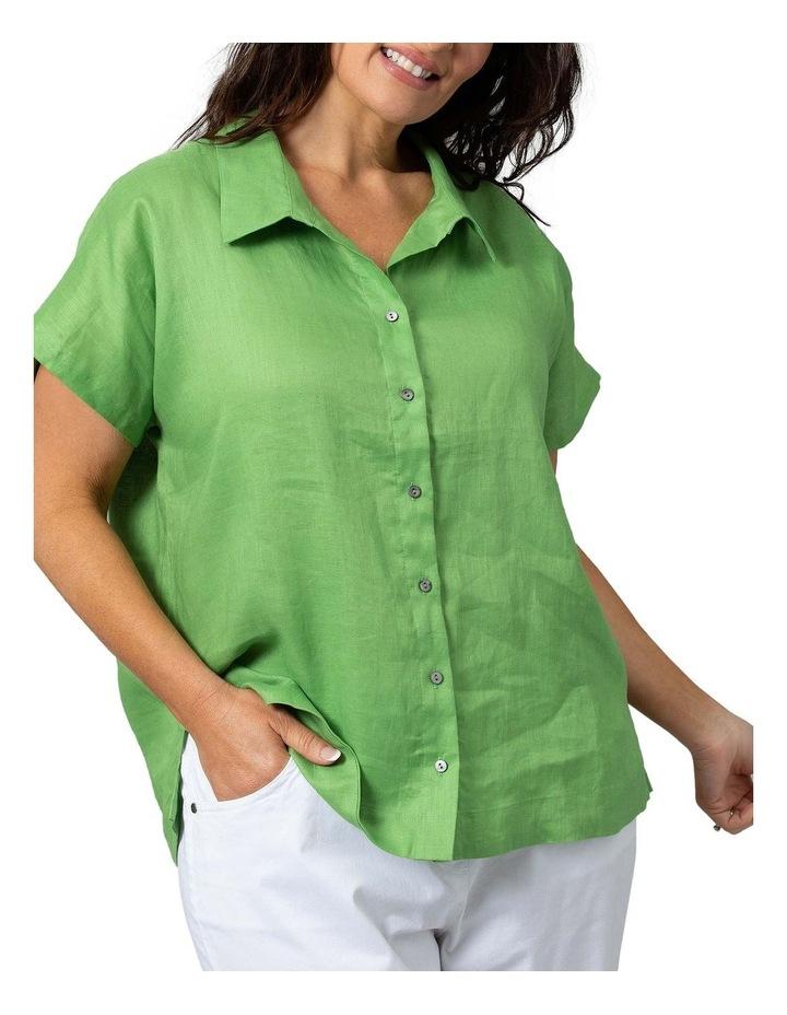 Boxy Essential Shirt Lush Green image 1