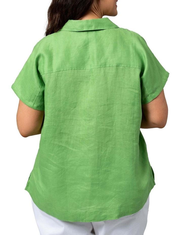 Boxy Essential Shirt Lush Green image 2