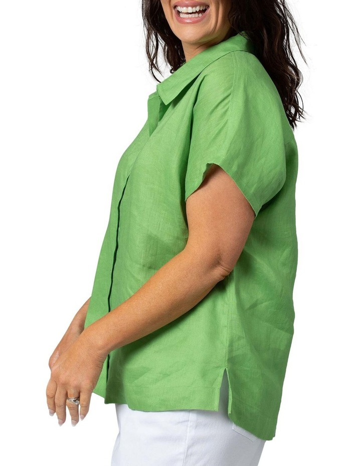 Boxy Essential Shirt Lush Green image 3