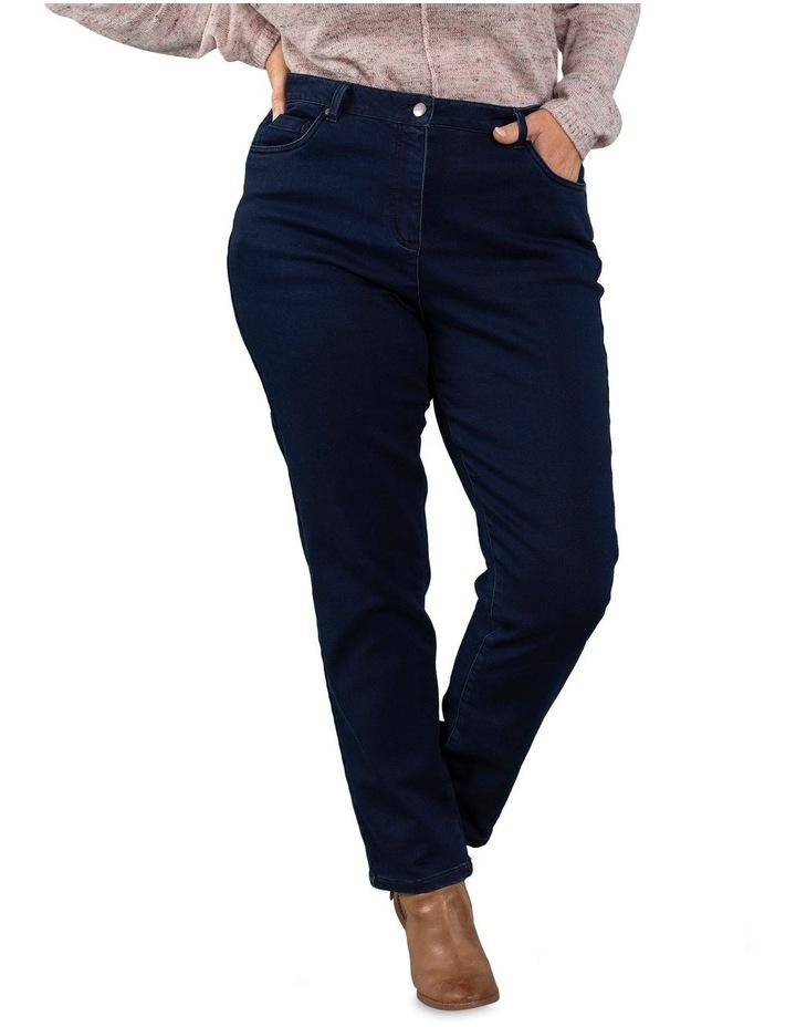 Full Length Dark Wash Denim Slim Jean image 1
