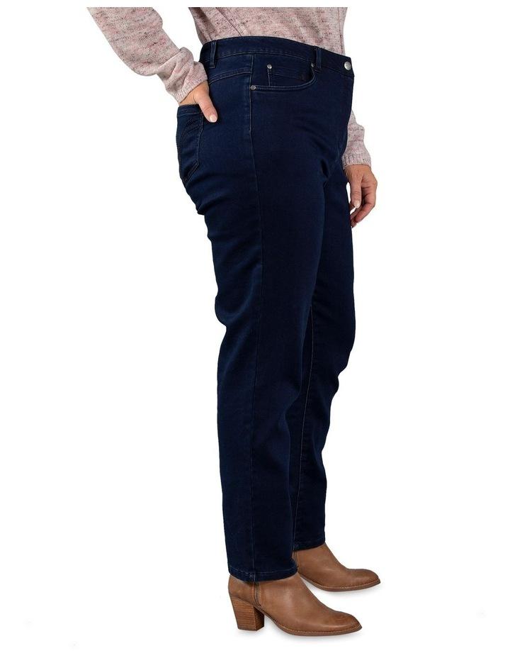 Full Length Dark Wash Denim Slim Jean image 2