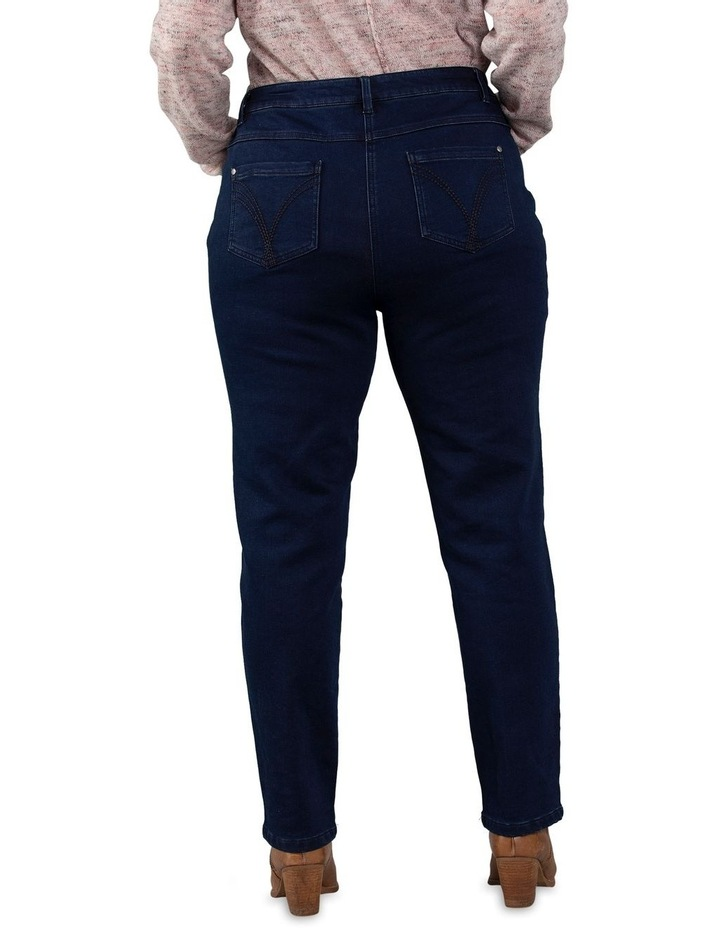 Full Length Dark Wash Denim Slim Jean image 3