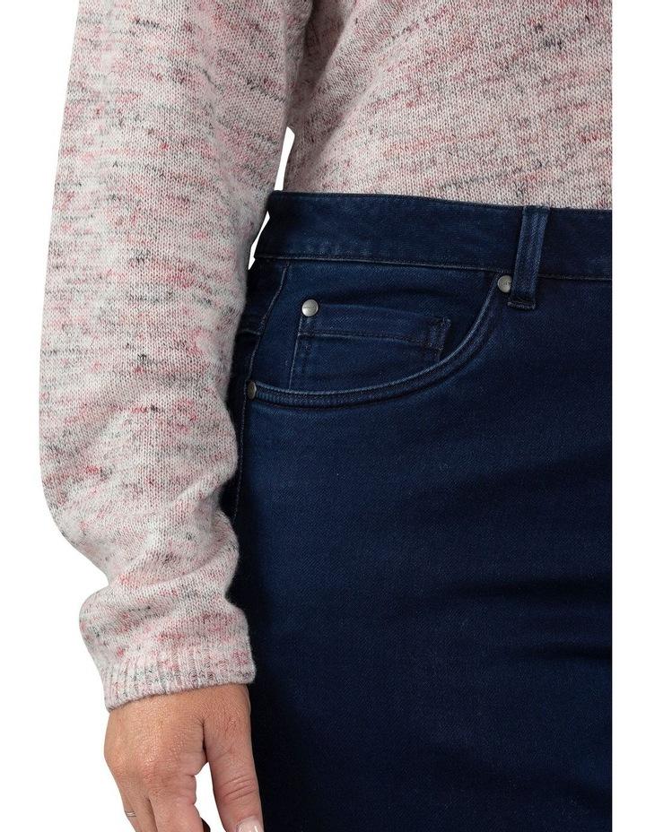 Full Length Dark Wash Denim Slim Jean image 4
