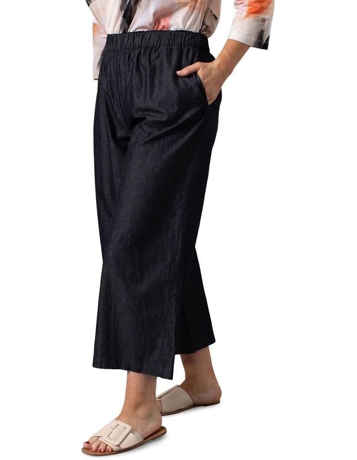 Chambray Wide Leg Pants Charcoal image 3