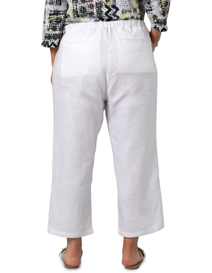 Washer Linen Cropped Pants White image 2