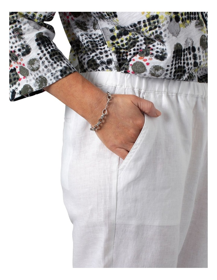 Washer Linen Cropped Pants White image 4