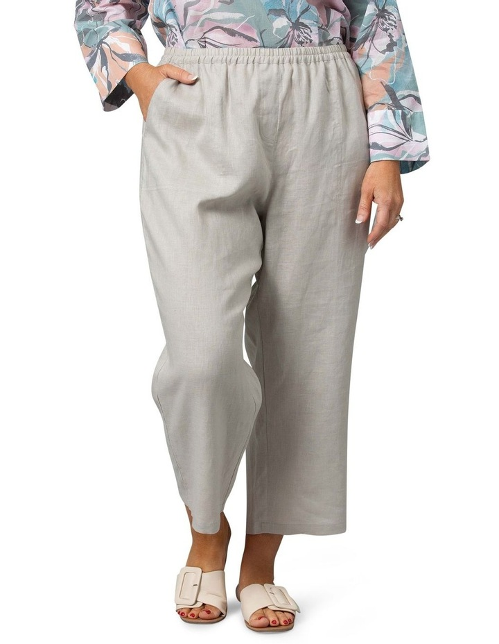 Washer Linen Crop Pant Stone image 1