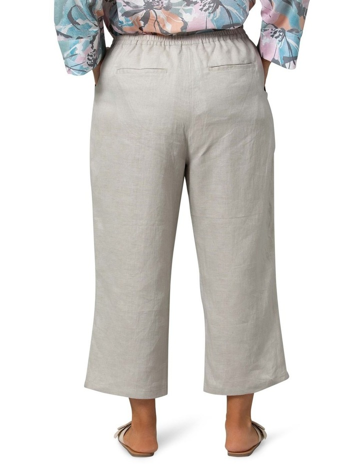 Washer Linen Crop Pant Stone image 2