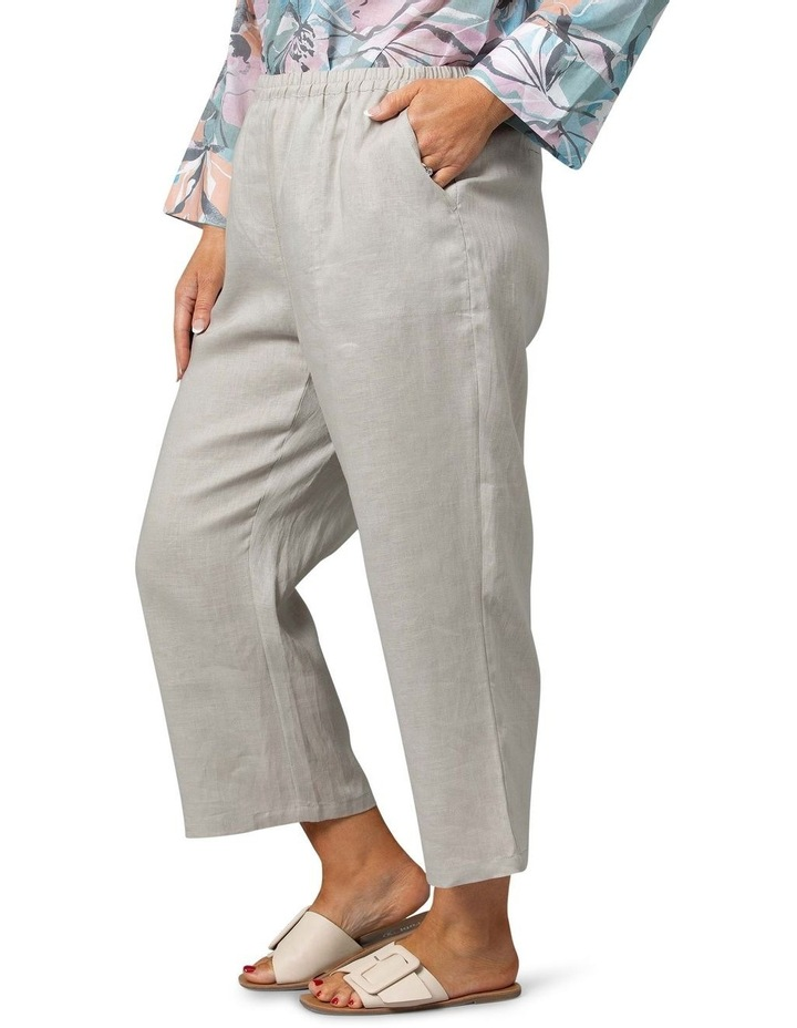 Washer Linen Crop Pant Stone image 3