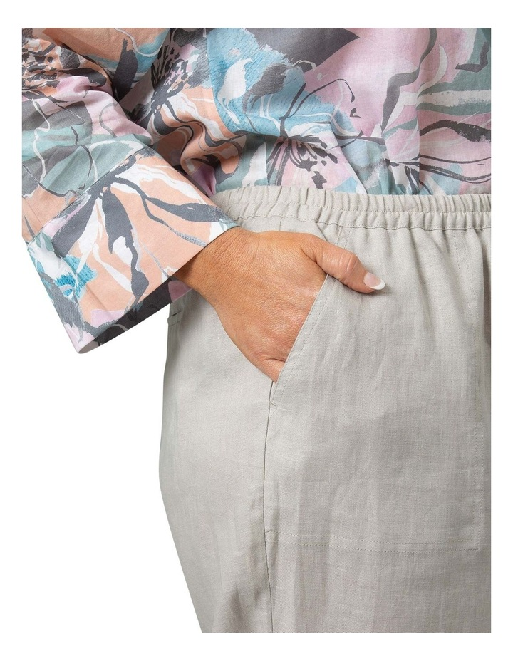 Washer Linen Crop Pant Stone image 4
