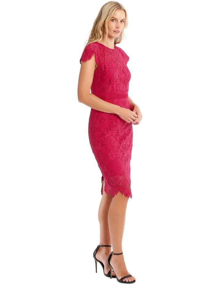 Fuschia Stain Glass High Neck Lace Dress image 2