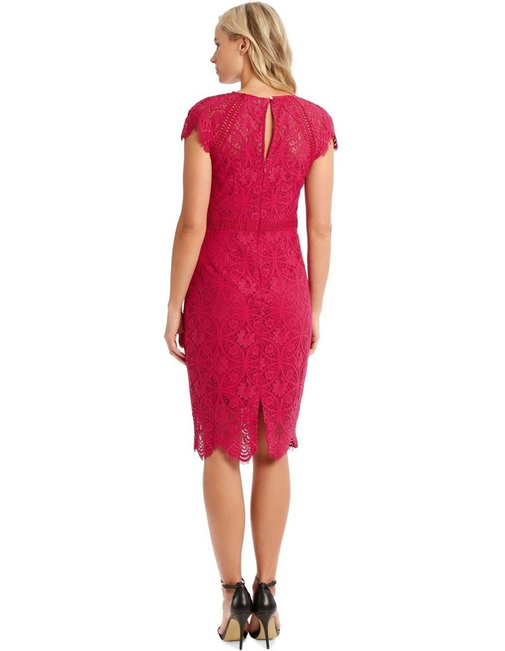 Fuschia Stain Glass High Neck Lace Dress image 3