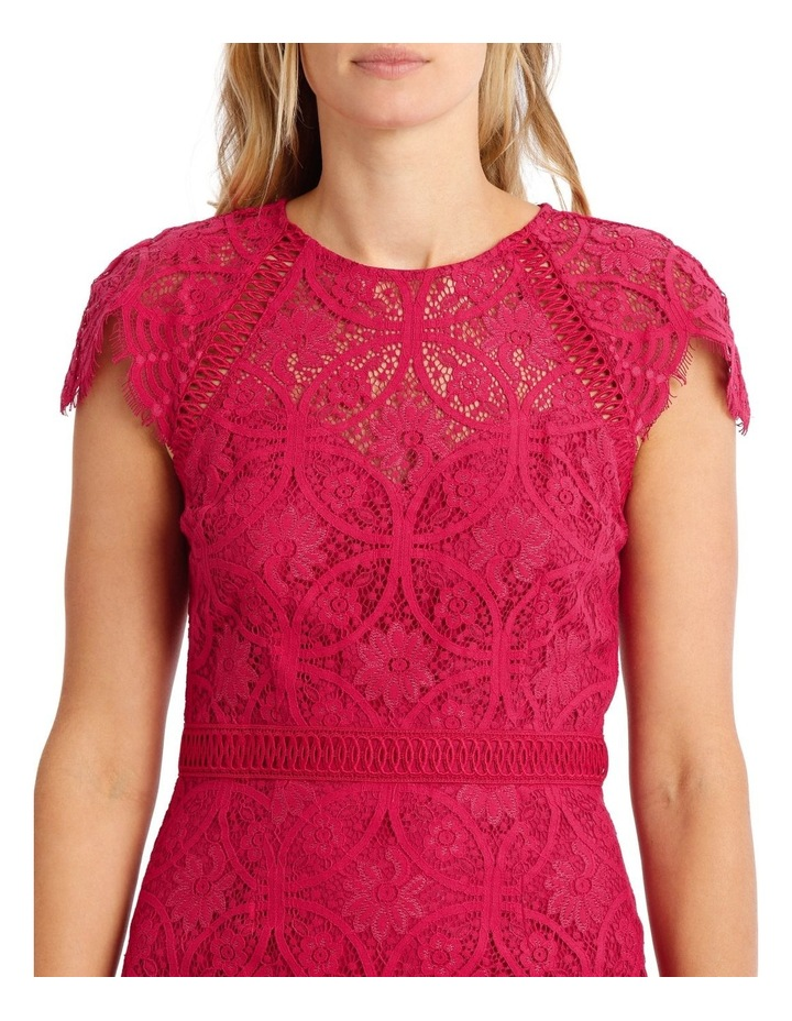 Fuschia Stain Glass High Neck Lace Dress image 4
