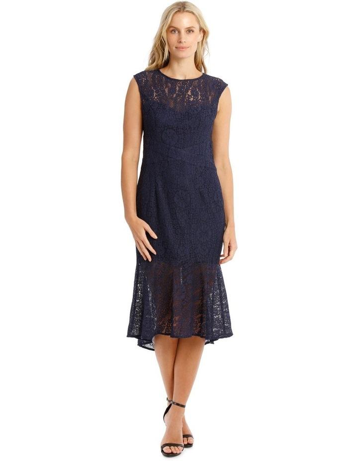 Two Tone Indigo Lace Dress image 1