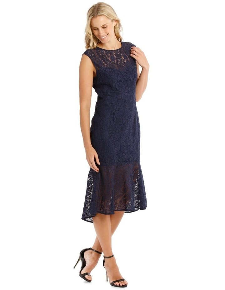 Two Tone Indigo Lace Dress image 2