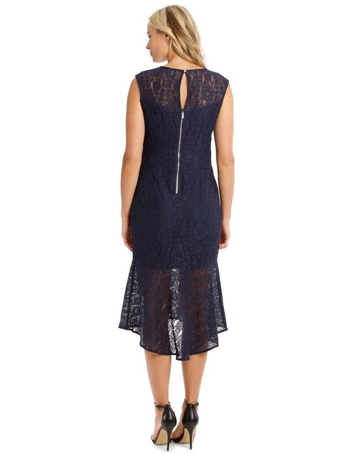 Two Tone Indigo Lace Dress image 3