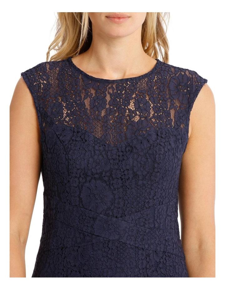 Two Tone Indigo Lace Dress image 4