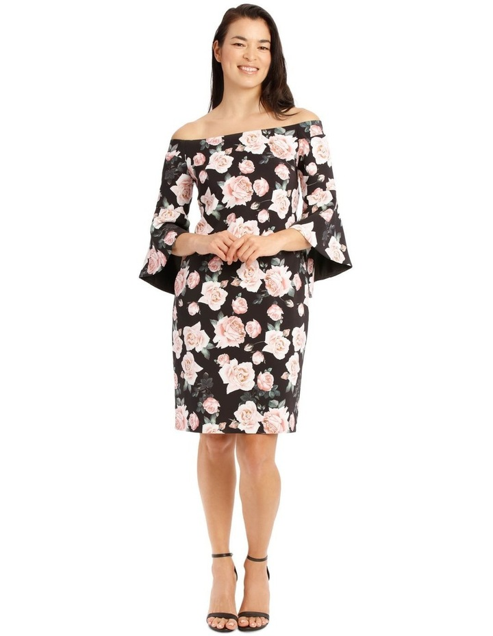 Only Roses Fluted Sleeve Shift Dress Print image 1