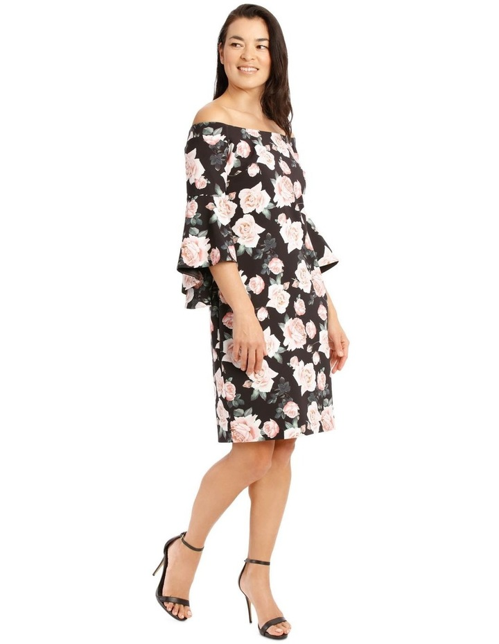 Only Roses Fluted Sleeve Shift Dress Print image 2