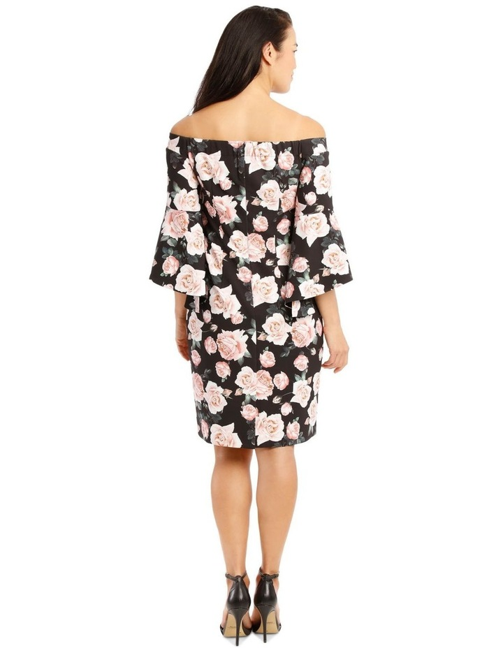 Only Roses Fluted Sleeve Shift Dress Print image 3