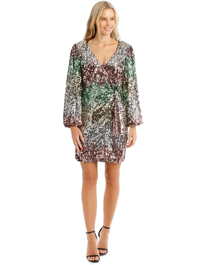 Ombre Sequin Mini Dress image 1