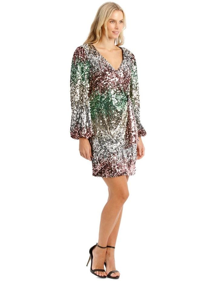 Ombre Sequin Mini Dress image 2