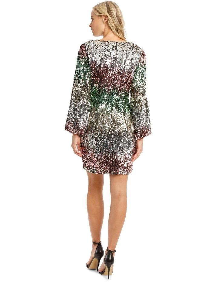 Ombre Sequin Mini Dress image 3