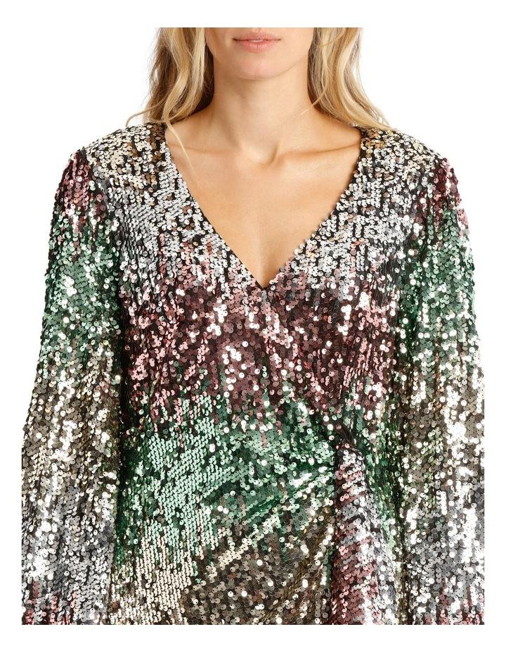 Ombre Sequin Mini Dress image 4