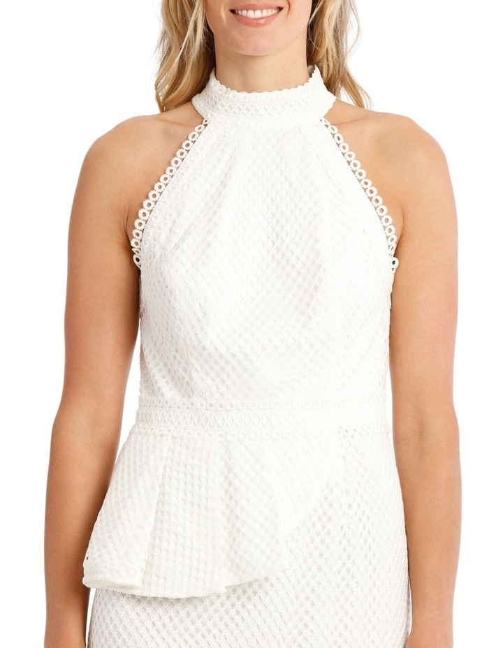 Eyelet Lace Peplum Dress image 4