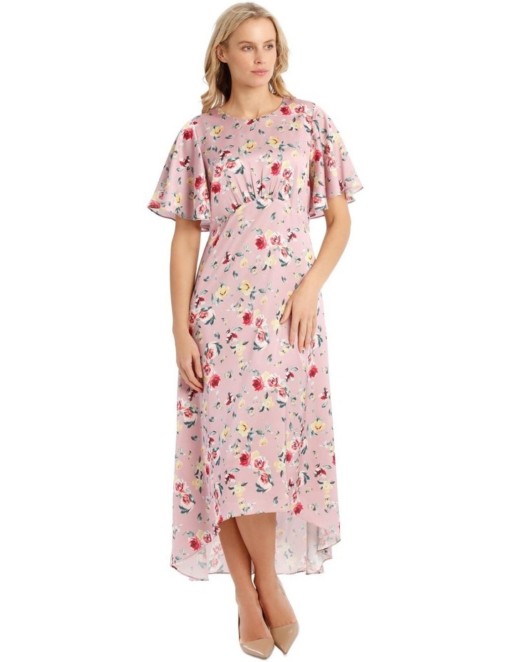 Maxi Flutter Sleeve Print Dress image 1